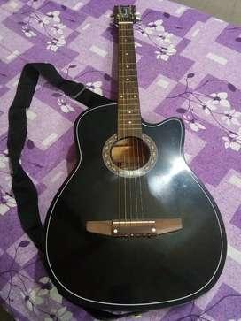 Acoustic Guitar.  Granada Semi Jumbo size , Black Acoustic Guitar.