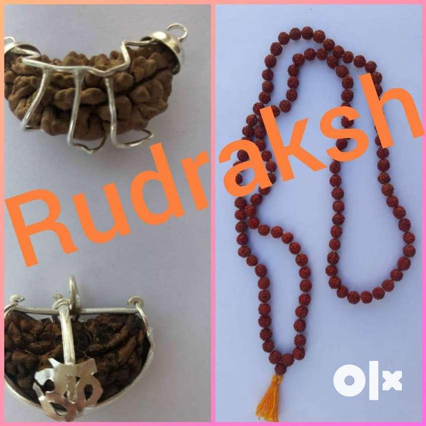 100% Pure 1 Mukhi RUDRAKSHA & Rudraksha Mala with Lab Certified..74.lk 0
