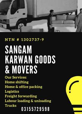 Sangam Karwan Movers and Packers Provides Trucks and Labour 4 Shifting