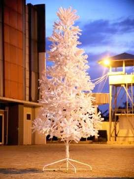 Pohon Natal Warna Putih Salju (2,7meter)