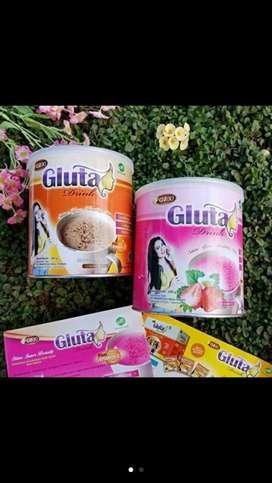 Gluta drink kaleng original/susu pemutih badan