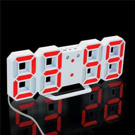 Jam digital LED dinding/meja