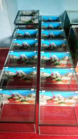 Aquarium 40x30x30 baru kaca asahi full 5mm