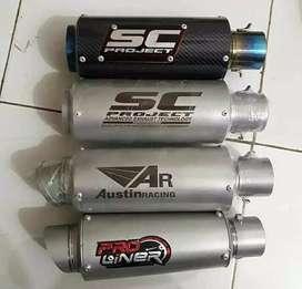 Knalpot Ninja 250, Z250, CBR 250rr, cbr 150.cb150.gsx.vixio.r15.r25
