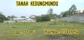 Tanah bagus buat investasi, di kedungmundu tembalang dekat jalan raya