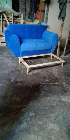 Sofa retro scandinavian/321 tanpa meja