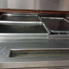 Oven deck gas 2 deck isi 6 loyang 40x60 cm merk Sinmag Taiwan second