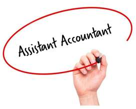 Vacancy for Assitant accountant for CA firm