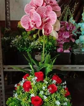 Rangkaian bunga sederhana