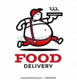 As a food delivery boy Rider bike cyclist opening habra location