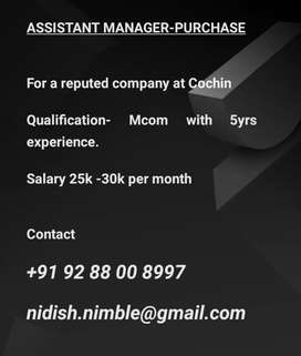 Assistant Manager - Purchase