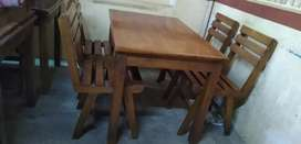 Rubco wooden table+chairs