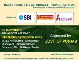 FREEHOLD AFORDABLE PLOTS IN MOHALI - DERABASSI