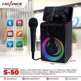 Speaker Advance Bluetooth Music Box & Karaoke S-50 4inch / S50