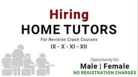 Home tutor Required (Male/Female can apply)
