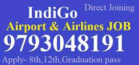 Male/female URGENT HIRING AIRLINES/AIRPORT JOB FULL TIME JOB APPLY