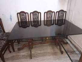 Dinning table set 6 ft x 4 ft, 8 chairs