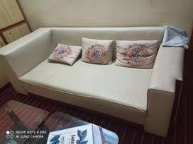 10 seater sofa with sofa cum bed and table