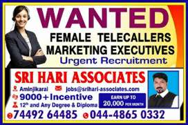WANTED FEMALE TELECALLERS