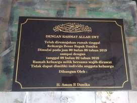 Plakat Prasasti Untuk Acara Peresmian Gedung Kantor Murah di Bandung