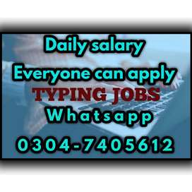 Best home based typing job opportunity for students. 2385