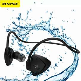 AWEI Bluetooth Earphone Headset dengan NFC - A840BL - Black