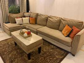 5-6 seater sofa with centre table