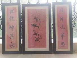 Original handdrawn art framed in wood