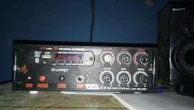 Amflifer and 2 speaker in 8 inch