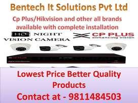 CCTV camera Hikvision & Cp plus and door lock , Door phone installatio