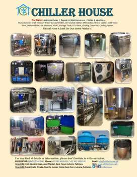 Water Chillers/ Industrial Chillers/ Cooling Towers/ RO Plants