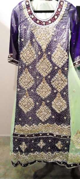 Full embroidery long Maxi