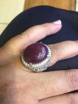 Red ruby big size ring perak