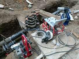 Rental mesin las hdpe dan operator