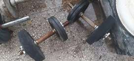 Barbells, weights and dumbells