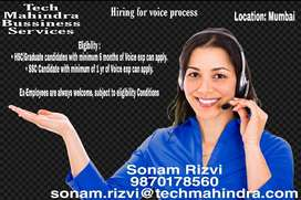 ENGLISH SPEAKERS REQUIRED, Voice Process