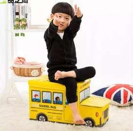 torage Box / Cartoon Storage BUS Kotak peyimpanan mainan toys