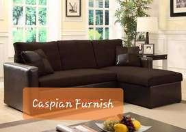 27.10 New Mix Brown Tone L shape sofa