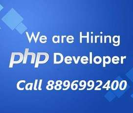 Urgently Required PHP Developer with minimum 1 years of experience