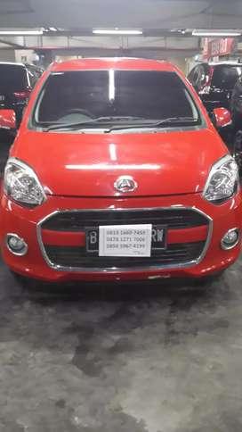 Daihatsu ayla x manual 2015 merah mulus 78jt kredit dp minimal