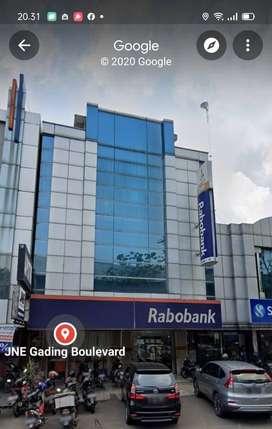Ruko 2 Gandeng Boulevard Raya Kelapa Gading 3 Lantai Bekas Bank Rapi