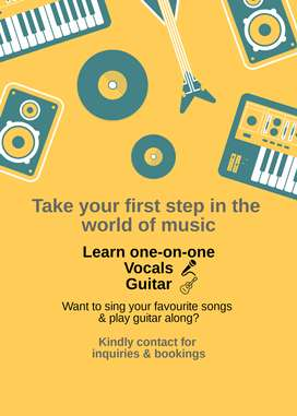Learn one-on-one Vocals (Singing) &/or Guitar (Capetown Sec-74, Noida)