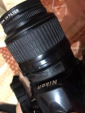 DSLR with the lens