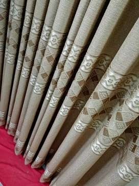New Curtains/ Pardey in Shine Gold Colour 12 ft 7inch 10 Width