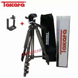 Tripod TAKARA ECO 173a plus holder for Camdig, actioncam dan Hp