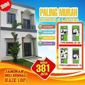 "Rumah mewah 2 lantai harga 1 lantai ""town house KAISAR CISEENG"""
