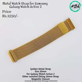 Metal Strap for Samsung Galaxy watch active 2
