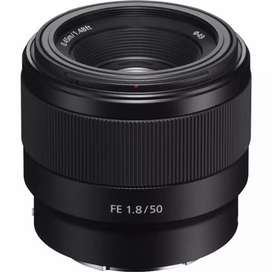 Lensa sony fe 50mm f1.8 Garansi resmi cash dan kredit