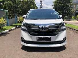 Toyota Vellfire G Atpm Putih Mutiara 2015 Full Ori 100%