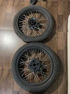 New spokes, royal enfield tyres thunderbird 350
